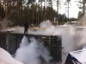 Технология бетонирования зимой