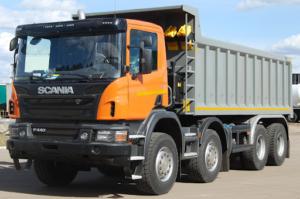 Доставка сыпучих материалов Москва Scania 20m3